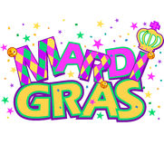 Mardi Gras. Type treatment with crown