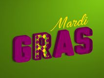 Mardi Gras typographic design. royalty free illustration