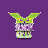 Mardi gras vector background with mask and text Royalty Free Stock Photos