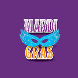 Mardi gras vector background with mask and text Stock Image