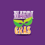 Mardi gras vector background with mask and text Stock Photos