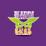 Mardi gras vector background with mask and text Royalty Free Stock Photo