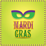 Mardi gras vector background with mask and text Stock Photo