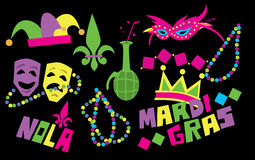 Mardi Gras Vector Icon illustration libre de droits