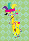 Mardi Gras Vector Illustration Stock Foto