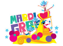 Mardi Gras Vector Illustration Royalty-vrije Stock Foto