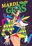 Mardi Gras Vector Illustration Stock Afbeelding