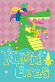 Mardi Gras Vector Illustration Royalty-vrije Stock Foto's