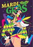 Mardi Gras Vector Illustration. Stock Image