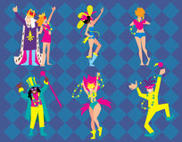 Mardi Gras Vector Illustration. Royalty Free Stock Images