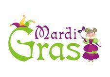 Mardi Gras illustration with girl Royalty Free Stock Photos