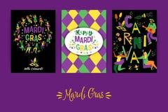 Mardi Gras Vector Schablonen für Karnevalskonzept und andere Benutzer Stockbilder