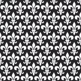 Mardi Gras vector seamless pattern with fleur-de-lis. Black and white colors. royalty free illustration