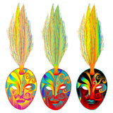 Mardi gras venetian masks Stock Photos