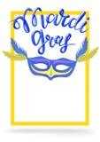 Mardi Gras, Vette Dinsdag, vector van letters voorziende illustratie in 3d stijl Ontwerpmalplaatje van affiche of banner voor par Stock Afbeelding