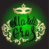 Mardi Gras vintage lettering background Stock Images
