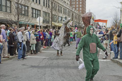 Mardi Gras Wild Things Frolick in the Parade Royalty Free Stock Photography