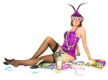 Mardi Gras With Drink Stock Image