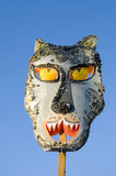 Mardi Gras wolf mask on sky background Stock Photography