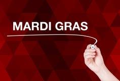 Mardi Gras word write Stock Photos