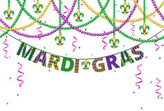 Mardi grashälsningar stock illustrationer