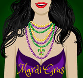 Mardi grashälsningar royaltyfri illustrationer