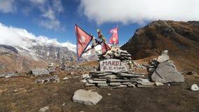 Mardi Himal Base Camp stock footage