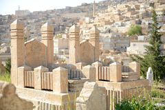 Mardin cemetery, Turkey Royalty Free Stock Photography