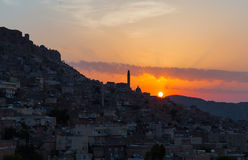 Mardin old town at sunset Stock Photos