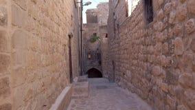 Narrow stone streets of old town Mardin, Turkey