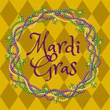 Mardy gras yellow background royalty free illustration
