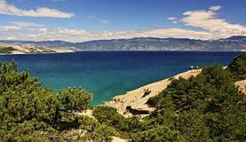 Mare adriatico, Baska Immagini Stock Libere da Diritti