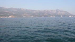 Mare adriatico in Budua Montenegro stock footage