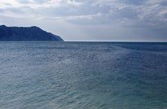 Mare Adriatico con promontorio del Conero Royalty Free Stock Images
