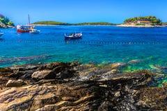 Mare adriatico in Croazia, Hvar Fotografia Stock Libera da Diritti