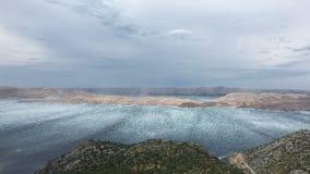 Mare adriatico durante la tempesta Fotografia Stock