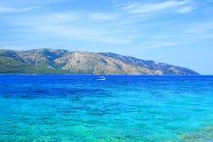Mare adriatico ed isola Hvar, Croazia Fotografia Stock Libera da Diritti