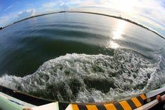 Mare adriatico in lampadina con il fish-eye Fotografia Stock
