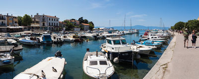 Mare adriatico, Malinska all'isola Krk immagini stock libere da diritti