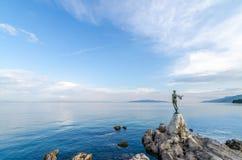 Mare adriatico, Opatije, Croazia Fotografia Stock Libera da Diritti