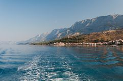 Mare adriatico a Podgora Fotografia Stock
