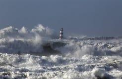 Mare agitato con le grandi onde Immagini Stock
