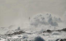 Mare agitato, costa di Gran canaria, isole Canarie Fotografie Stock
