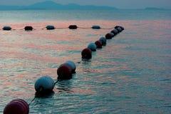 Mare al tramonto Fotografie Stock Libere da Diritti
