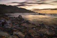 Mare alla notte Fotografia Stock