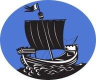 Mare alto di navigazione della nave di Galleon Fotografia Stock Libera da Diritti