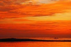 Mare arancione del cielo Fotografia Stock