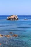 Mare azzurrato Fotografia Stock