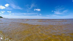 Mare bianco del litorale video d archivio