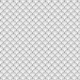 Mare in bianco e nero Shell Geometric Vector Pattern del cerchio senza cuciture per Backg Fotografia Stock Libera da Diritti